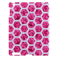 Hexagon2 White Marble & Pink Marble Apple Ipad 3/4 Hardshell Case by trendistuff