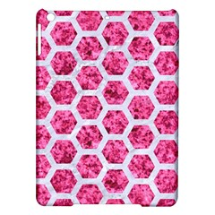 Hexagon2 White Marble & Pink Marble Ipad Air Hardshell Cases