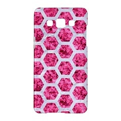 Hexagon2 White Marble & Pink Marble Samsung Galaxy A5 Hardshell Case