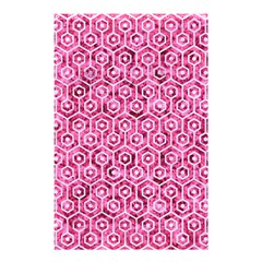 Hexagon1 White Marble & Pink Marble Shower Curtain 48  X 72  (small)