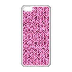 Hexagon1 White Marble & Pink Marble Apple Iphone 5c Seamless Case (white)