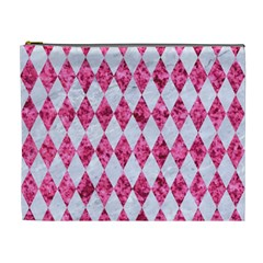 Diamond1 White Marble & Pink Marble Cosmetic Bag (xl)