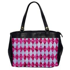 Diamond1 White Marble & Pink Marble Office Handbags