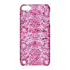 Damask2 White Marble & Pink Marble (r) Apple Ipod Touch 5 Hardshell Case With Stand by trendistuff