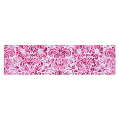 Damask2 White Marble & Pink Marble (r) Satin Scarf (oblong)