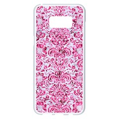 Damask2 White Marble & Pink Marble (r) Samsung Galaxy S8 Plus White Seamless Case