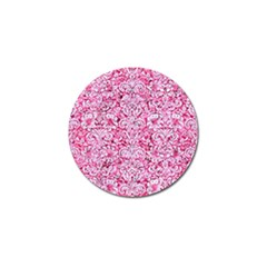 Damask2 White Marble & Pink Marble Golf Ball Marker (4 Pack)