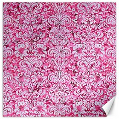 Damask2 White Marble & Pink Marble Canvas 20  X 20
