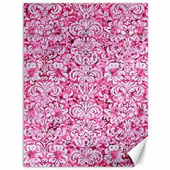 Damask2 White Marble & Pink Marble Canvas 36  X 48