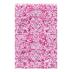 Damask2 White Marble & Pink Marble Shower Curtain 48  X 72  (small)