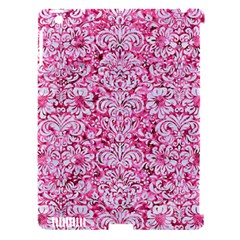 Damask2 White Marble & Pink Marble Apple Ipad 3/4 Hardshell Case (compatible With Smart Cover)