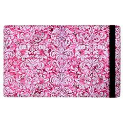 Damask2 White Marble & Pink Marble Apple Ipad 2 Flip Case