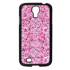 Damask2 White Marble & Pink Marble Samsung Galaxy S4 I9500/ I9505 Case (black) by trendistuff