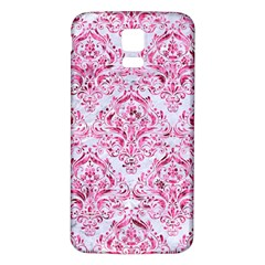 Damask1 White Marble & Pink Marble (r) Samsung Galaxy S5 Back Case (white)