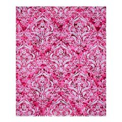 Damask1 White Marble & Pink Marble Shower Curtain 60  X 72  (medium)