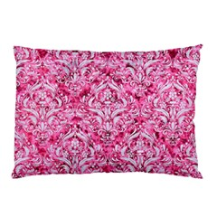 Damask1 White Marble & Pink Marble Pillow Case (two Sides)