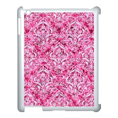 Damask1 White Marble & Pink Marble Apple Ipad 3/4 Case (white)