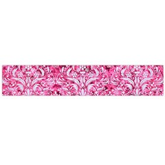 Damask1 White Marble & Pink Marble Large Flano Scarf