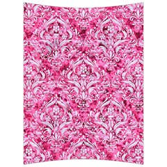 Damask1 White Marble & Pink Marble Back Support Cushion
