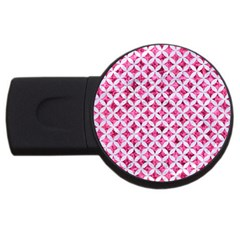 Circles3 White Marble & Pink Marble Usb Flash Drive Round (2 Gb)