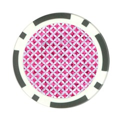 Circles3 White Marble & Pink Marble Poker Chip Card Guard (10 Pack)