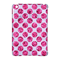 Circles2 White Marble & Pink Marble (r) Apple Ipad Mini Hardshell Case (compatible With Smart Cover)