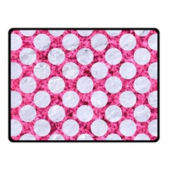 Circles2 White Marble & Pink Marble Fleece Blanket (small)