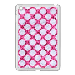Circles2 White Marble & Pink Marble Apple Ipad Mini Case (white) by trendistuff