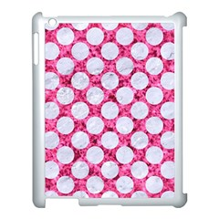 Circles2 White Marble & Pink Marble Apple Ipad 3/4 Case (white)