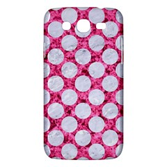 Circles2 White Marble & Pink Marble Samsung Galaxy Mega 5 8 I9152 Hardshell Case  by trendistuff