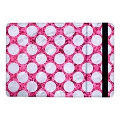 Circles2 White Marble & Pink Marble Samsung Galaxy Tab Pro 10 1  Flip Case