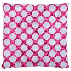 Circles2 White Marble & Pink Marble Standard Flano Cushion Case (one Side)