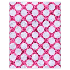 Circles2 White Marble & Pink Marble Drawstring Bag (large)