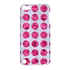 Circles1 White Marble & Pink Marble (r) Apple Ipod Touch 5 Hardshell Case by trendistuff