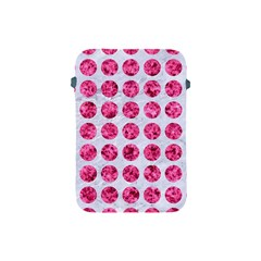 Circles1 White Marble & Pink Marble (r) Apple Ipad Mini Protective Soft Cases