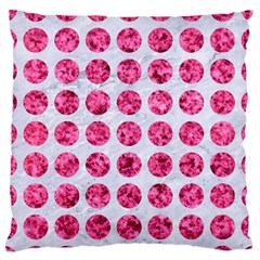 Circles1 White Marble & Pink Marble (r) Large Flano Cushion Case (one Side)
