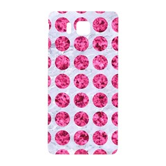 Circles1 White Marble & Pink Marble (r) Samsung Galaxy Alpha Hardshell Back Case by trendistuff