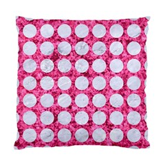 Circles1 White Marble & Pink Marble Standard Cushion Case (two Sides)