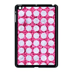Circles1 White Marble & Pink Marble Apple Ipad Mini Case (black) by trendistuff