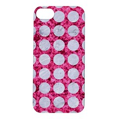 Circles1 White Marble & Pink Marble Apple Iphone 5s/ Se Hardshell Case