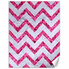 Chevron9 White Marble & Pink Marble (r) Canvas 18  X 24