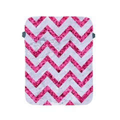Chevron9 White Marble & Pink Marble (r) Apple Ipad 2/3/4 Protective Soft Cases by trendistuff