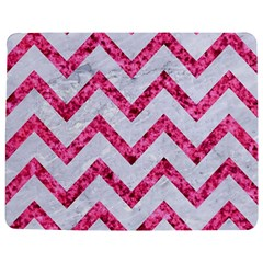 Chevron9 White Marble & Pink Marble (r) Jigsaw Puzzle Photo Stand (rectangular)