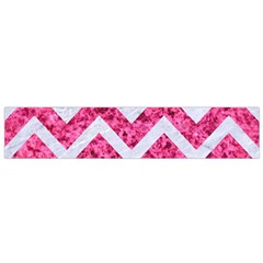 Chevron9 White Marble & Pink Marble Small Flano Scarf