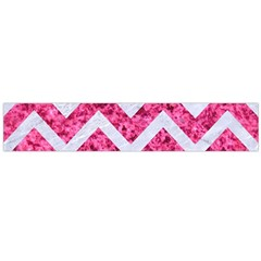 Chevron9 White Marble & Pink Marble Large Flano Scarf
