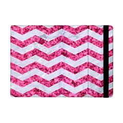 Chevron3 White Marble & Pink Marble Ipad Mini 2 Flip Cases