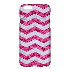 Chevron3 White Marble & Pink Marble Apple Iphone 6 Plus/6s Plus Hardshell Case