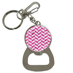 Chevron1 White Marble & Pink Marble Bottle Opener Key Chains