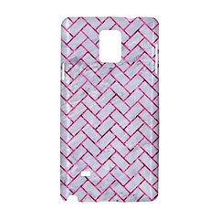 Brick2 White Marble & Pink Marble (r) Samsung Galaxy Note 4 Hardshell Case
