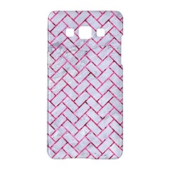 Brick2 White Marble & Pink Marble (r) Samsung Galaxy A5 Hardshell Case  by trendistuff